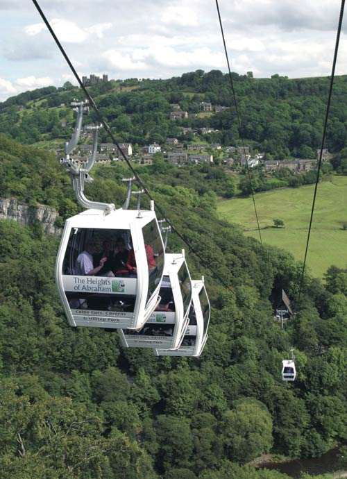 Take a trip to Matlock and Matlock Bath, cable cars and Gullivers Kingdom to be found there